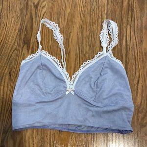 Victoria's Secret Lace Lounge Bralette Blue